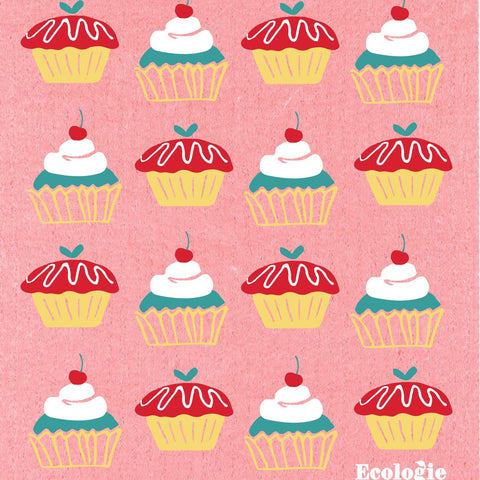 Swedish Dish Cloth - Cupcakes