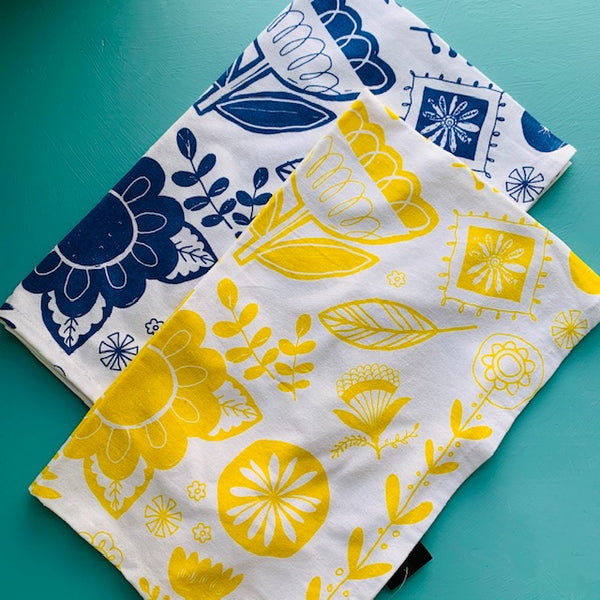 Tea Towel - Yellow Floral