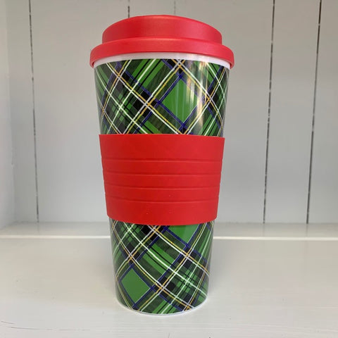 Plaid To-Go Cup (green)