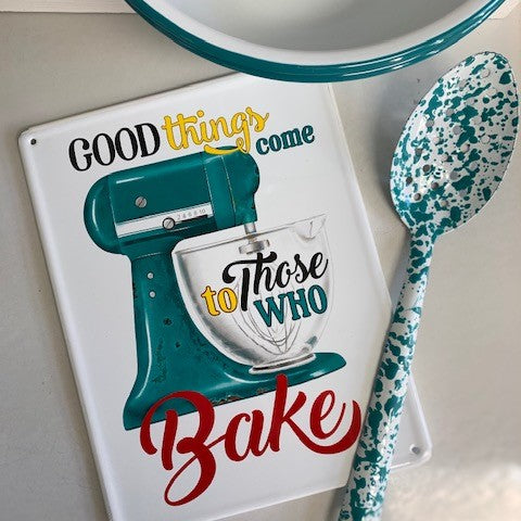 Vintage Inspired Enamelware Sign - Baking