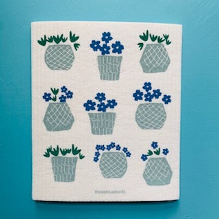 Swedish Dish Cloth - Flower Pots