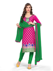 Vibes Women's Banarsi Silk Unstitched Straight Fit Dress Material E2-C16-236
