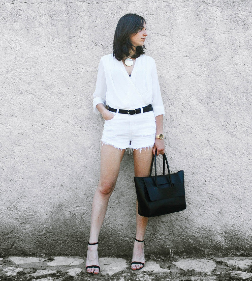 ALL WHITE SUMMER OUTFIT by @ariadibari