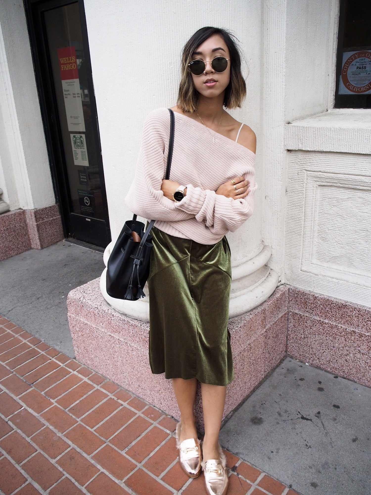 Green Velvet and Blush Knits by @shhtephs