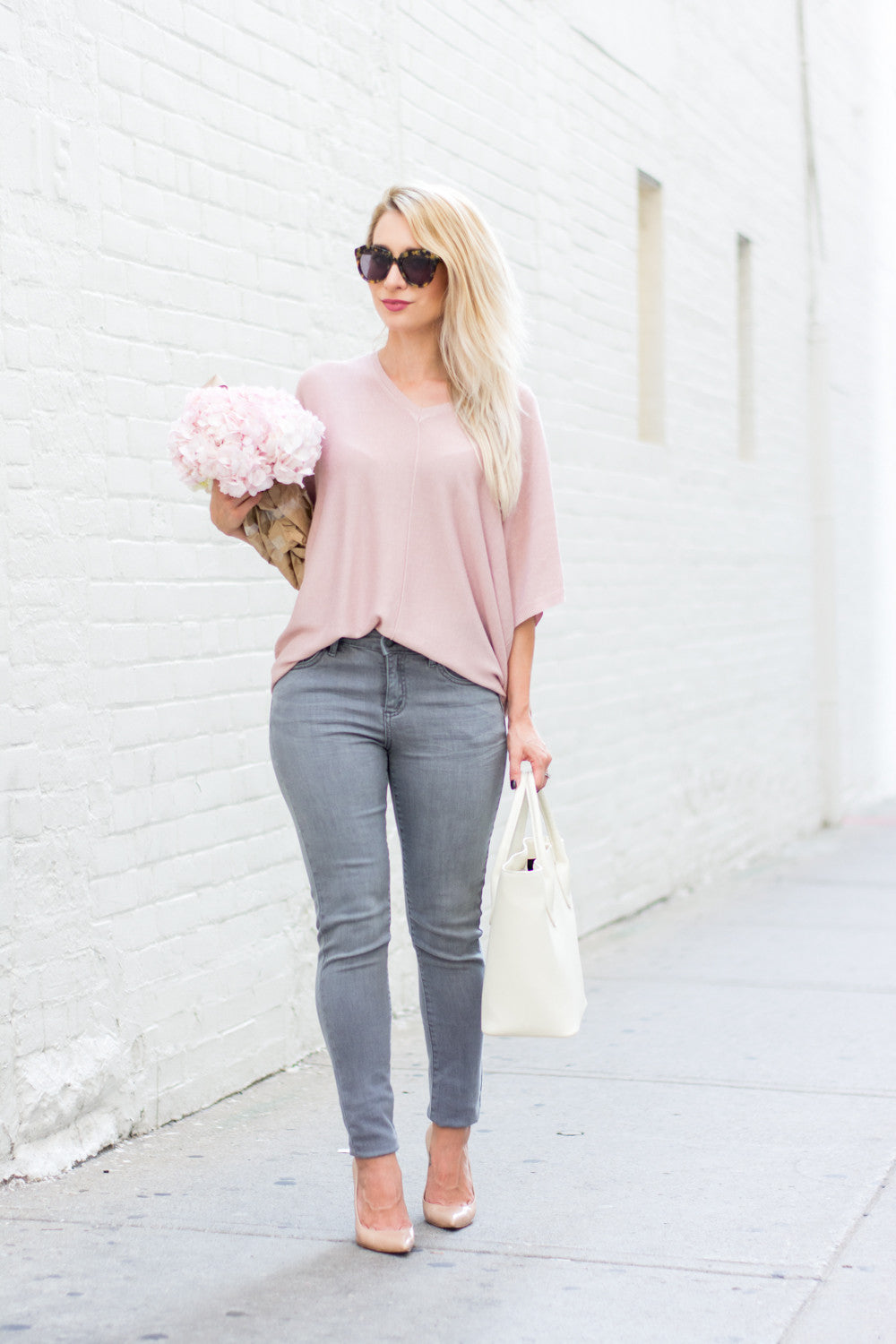 OOTD - GREY AND PINK WITH JOE FRESH by @lapetitenoob