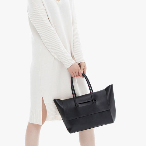 Eleven Flap Closure Handbag - Black - Shop Now