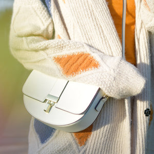 Daisy Mini Crossbody Bag - White