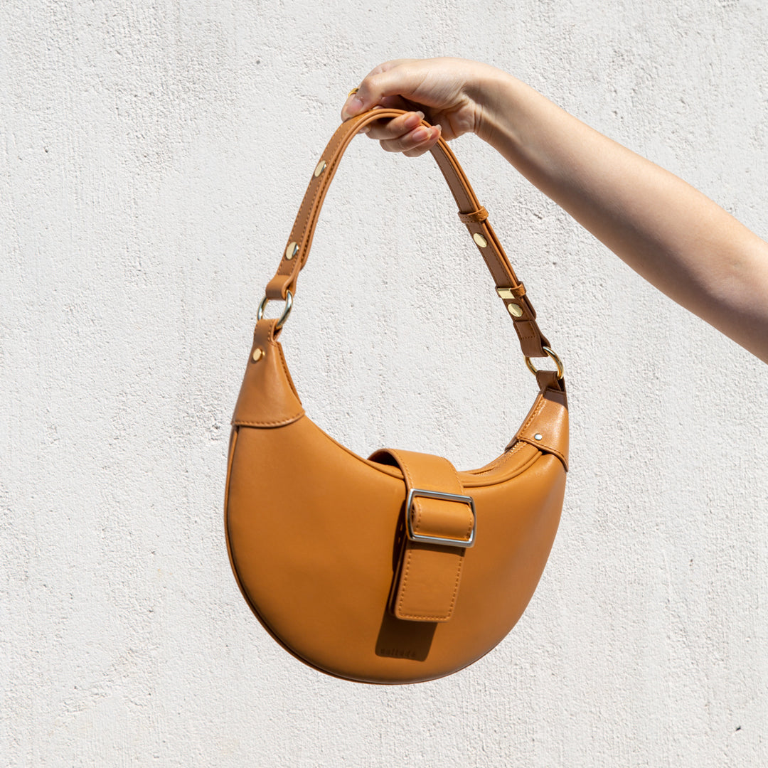 Croissant Shoulder Bag -  Caramel Brown