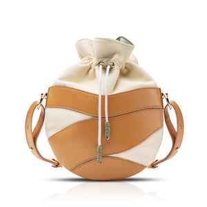 Mila Drawstring Crossbody Bag - Barcelona Brown