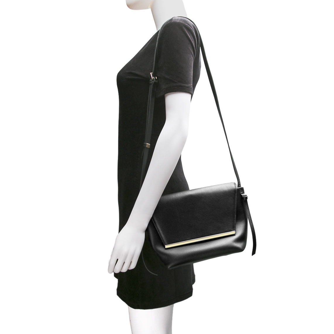 Lara Flap Crossbody Bag - Black