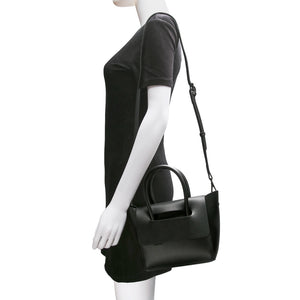 Mini Flap Closure Handbag - Black