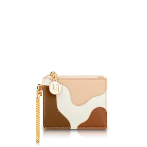 Palette Card Holder - Cream/Rust/Beige/Brown