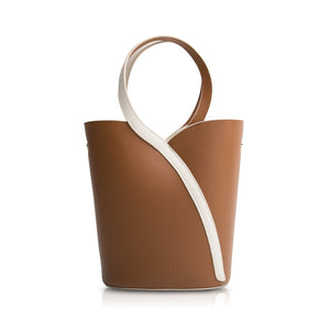 Gemini Handle Bucket Bag - Chocolate Brown