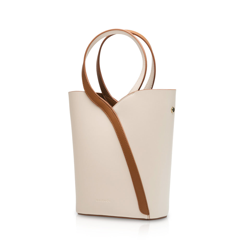 Gemini Handle Bucket Bag - Cream