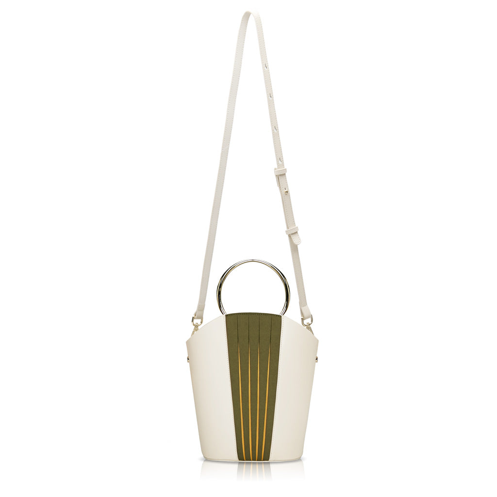 Chiaro Handle Bucket Bag - Cream