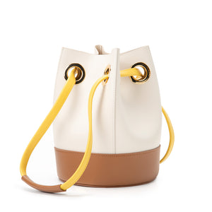 Morandi Drawstring Bucket Bag - Cream