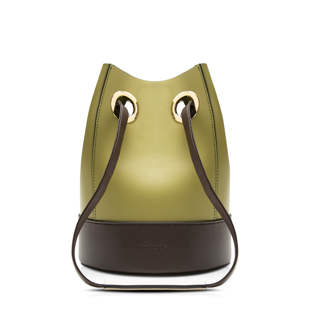Morandi Drawstring Bucket Bag - Olive