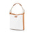 Rona Canvas Bucket Bag - Off-White/Caramel Brown