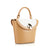 Camille Double-Sided Bucket Bag - Sandy Brown/Off-White