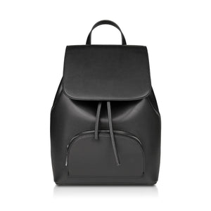 Winona Drawstring Backpack - Black