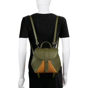 Chiaro Convertible Mini Backpack - Moss Green