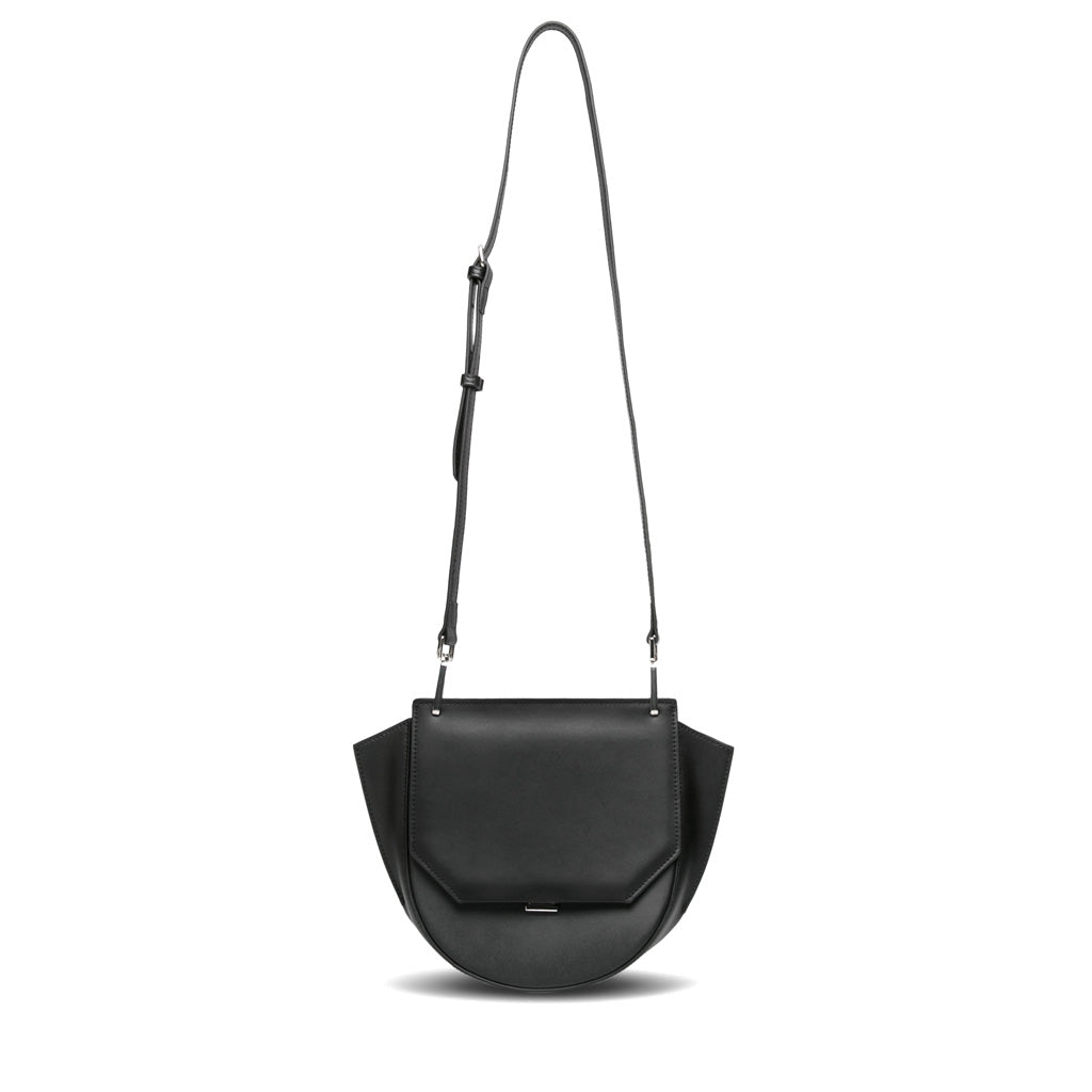 Raye Flap Crossbody Bag - Black