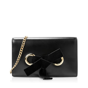 Selene Bow Clutch - Black