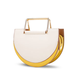 Morandi Rectangle Handle Crossbody Bag - Cream