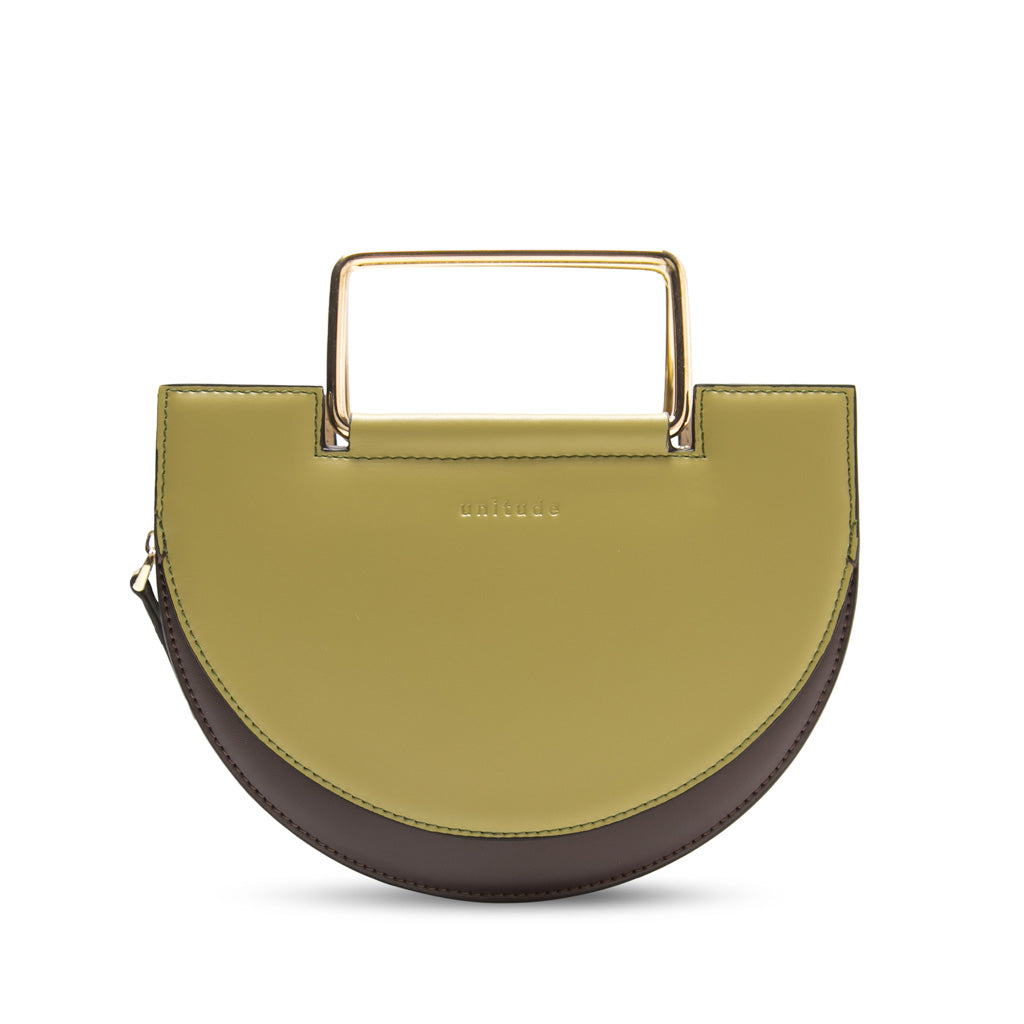 Morandi Rectangle Handle Crossbody Bag - Olive