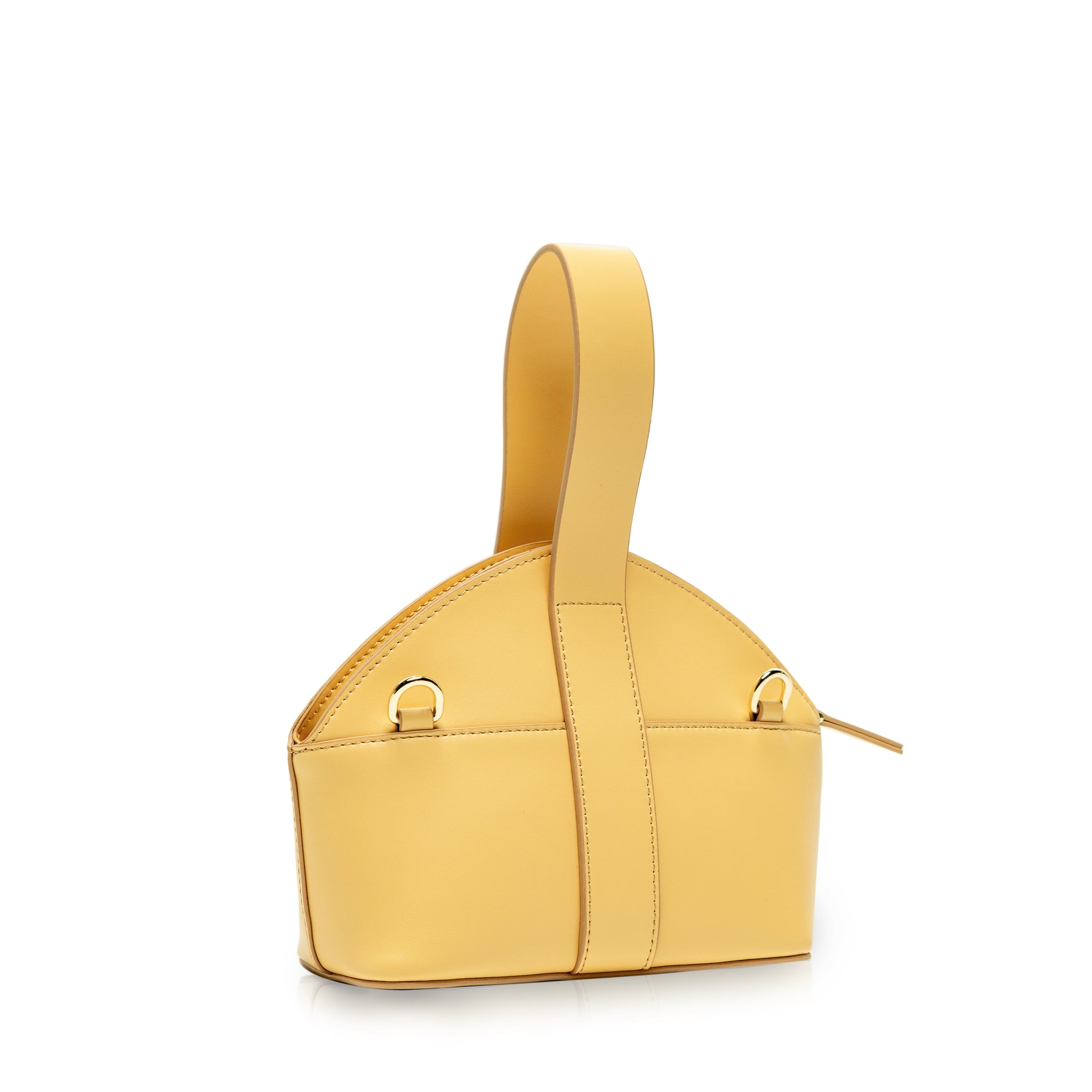 Oval Mini Crossbody Bag - Lemon