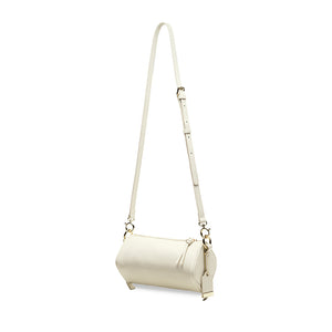 Cuboid Top Handle Crossbody Bag - White