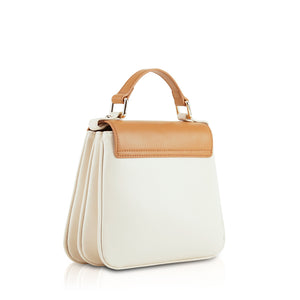Cupid Mini Top Handle Crossbody Bag - Cream/Brown