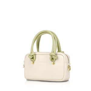Polly Mini Phone Crossbody Bag - Cream/Tea Green