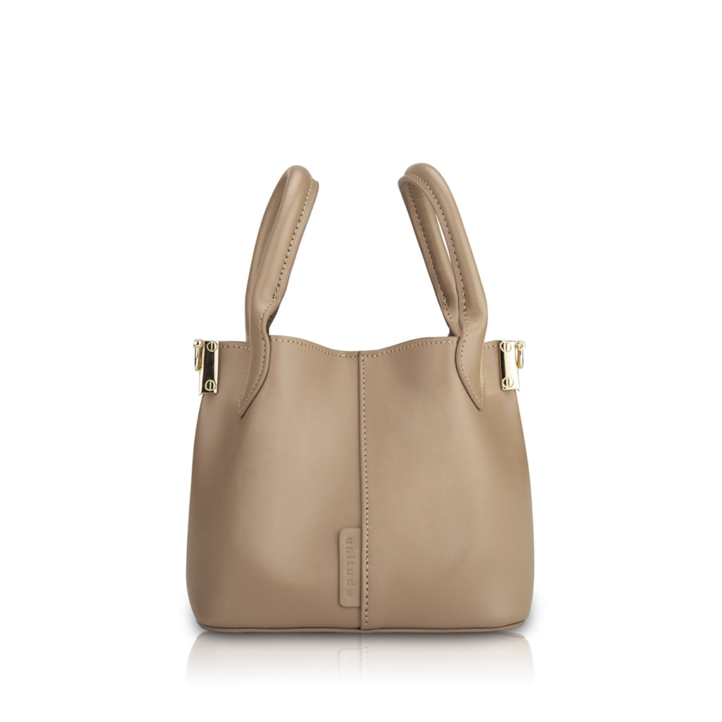 Savoy Mini Handbag - Warm Taupe