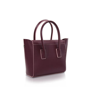 Mini Flap Closure Handbag - Plum
