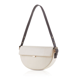Baguette Shoulder Bag - Chalk Lizard Embossed
