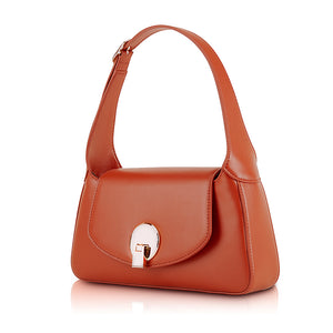 Camille Flap Shoulder Bag - Berry Red