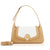 Camille Flap Shoulder Bag - Sandy Brown/Off-White