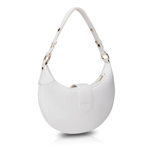Croissant Shoulder Bag - White