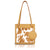Lucy Book Tote Bag - Brown & White Cow-Print Pony Hair