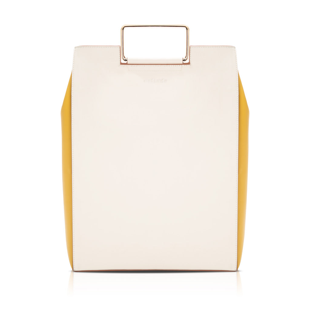 Morandi Rectangle Handle Tote - Cream