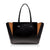 Intermezzo Medium Tote Bag - Black/ Russet Orange