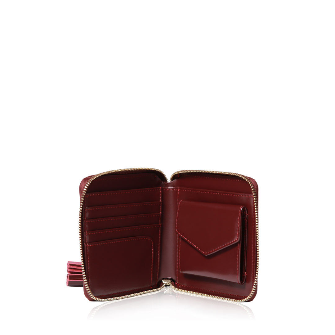 Tassel Wallet - Wine