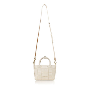 Criss-cross Mini Handbag - Cream