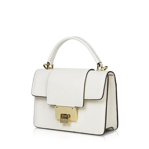 LOCK Crossbody Bag - White