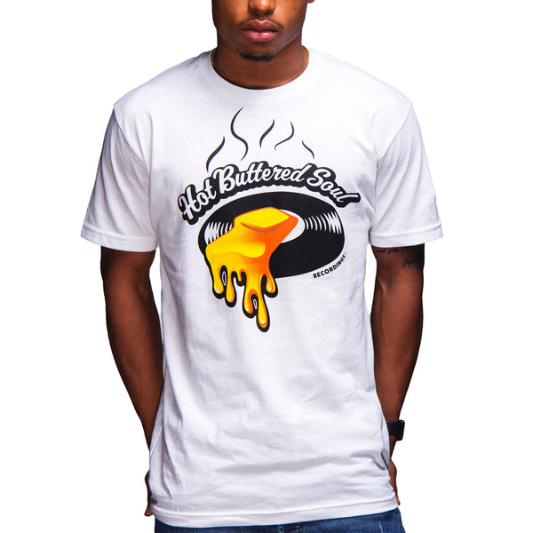 Hot Buttered Soul Recordings Tee (White)