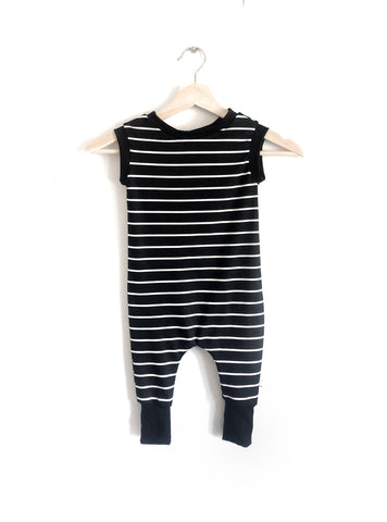 Black Striped Tank Romper