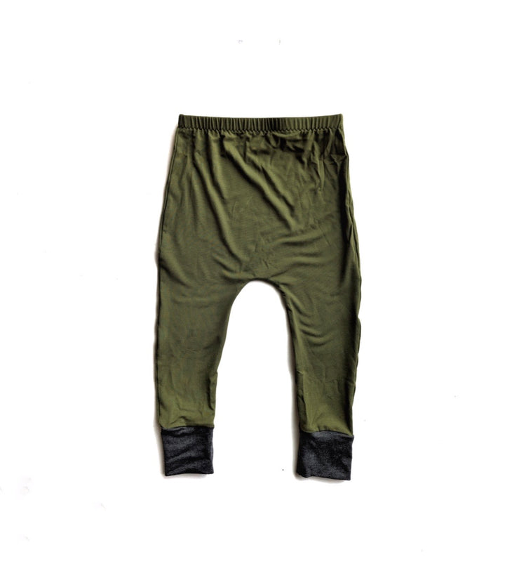 Olive Green Bamboo Harems
