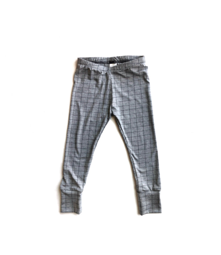 Grey Grid Bamboo Leggings