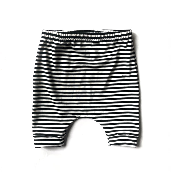 Striped Bamboo Harem Shorts